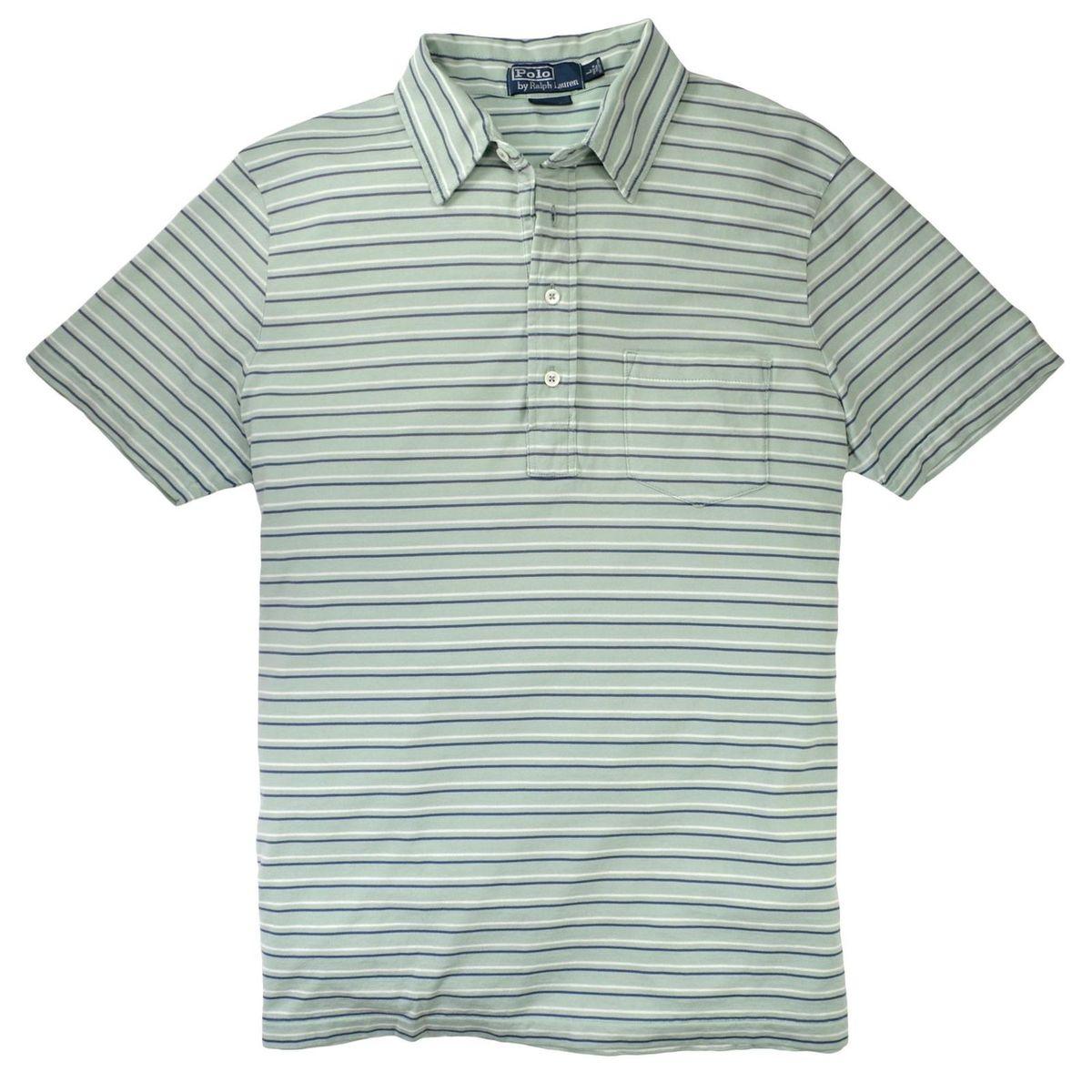 camisa polo ralph lauren listrada em verde claro - tamanho m - camisas polo  ralph lauren 9e32eab5844