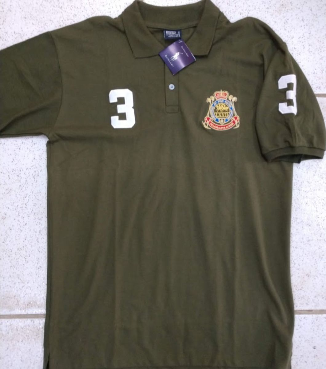 camisa polo ralph lauren verde equine tam gg - camisas polo ralph lauren dd3df67b879