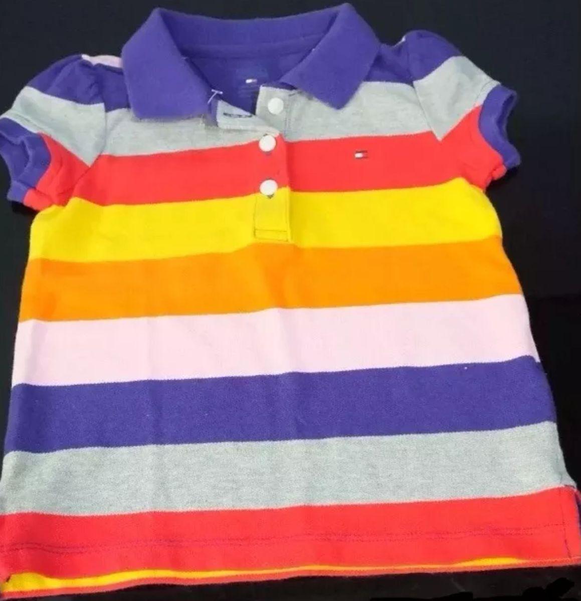 88ea4f6f0 camisa polo tommy hilfiger infantil stripe original - bebê tommy hilfiger