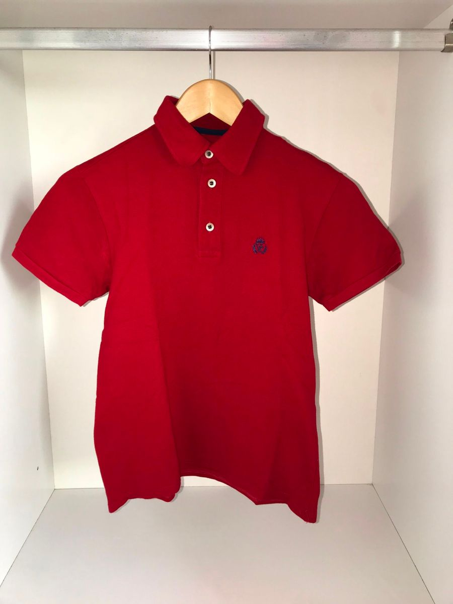 camisa polo vermelha valettinho 10 anos - menino valettinho 8a7e9527bd3db