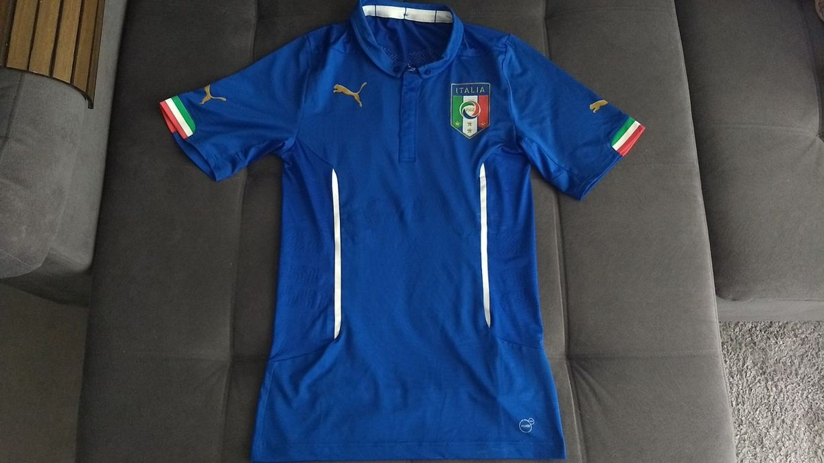 camisa puma itália home 2014 modelo jogador actv cod. 744287 - raridade! -  camisas e433919d2e8bf