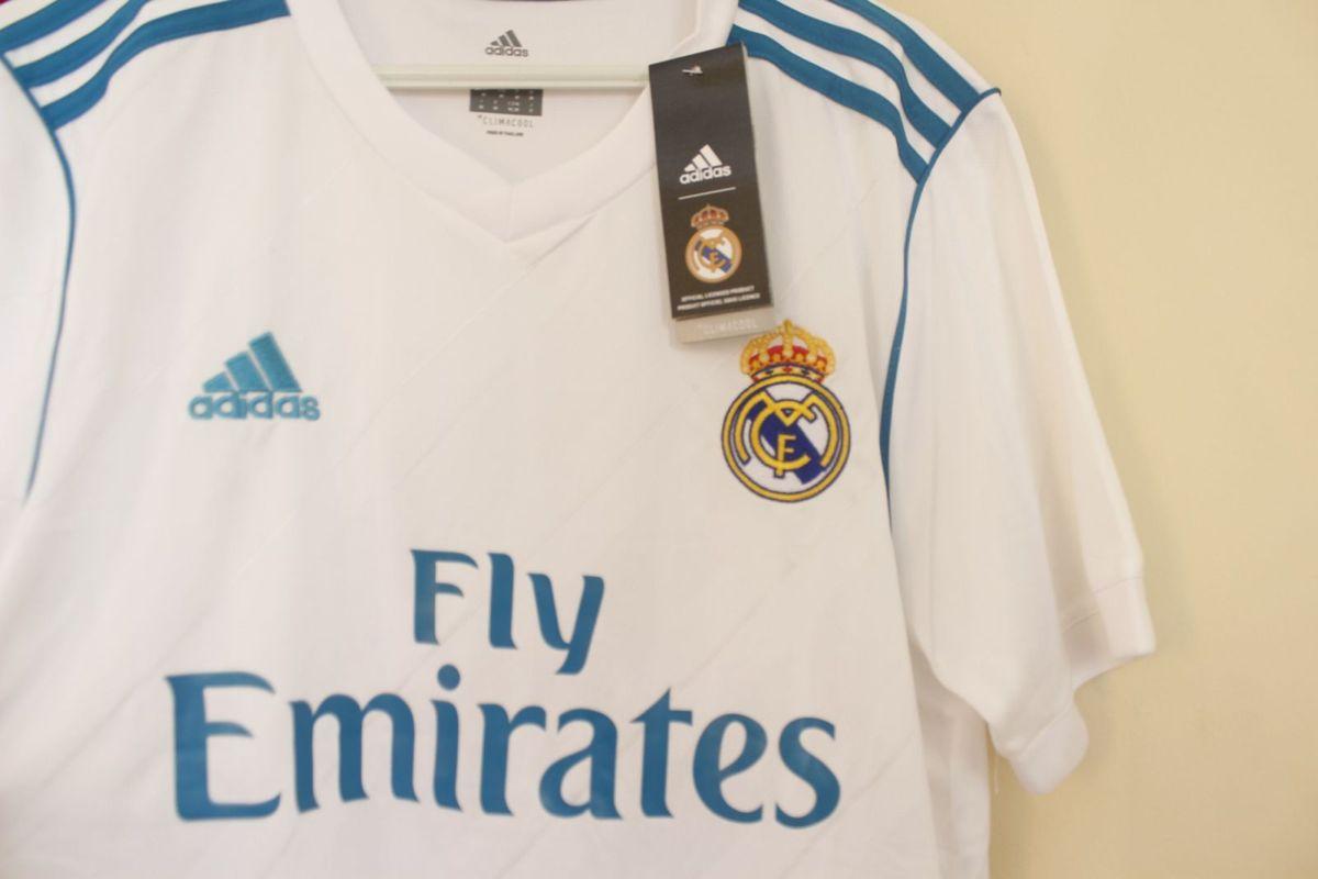 dc5c971096 Camisa Real Madrid 2017-18 Tamanho M Original Adidas - R  120