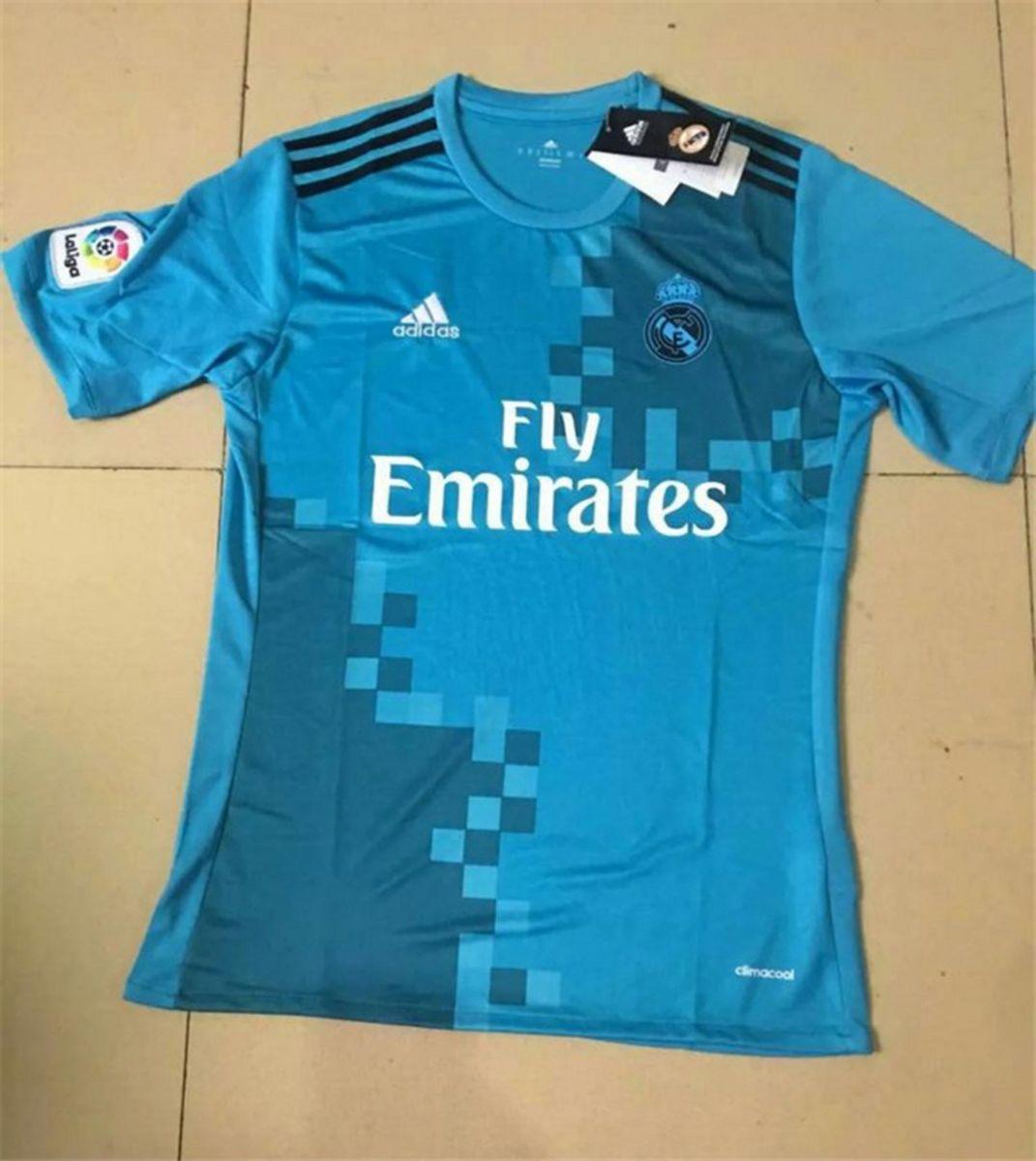 camisa real madrid madrid 17 18 away - camisas adidas ee783299a2c37