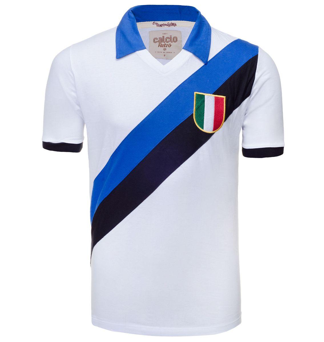 6bbf618aba camisa retrô - inter milão 1950 - branca - esportes calcio-retro