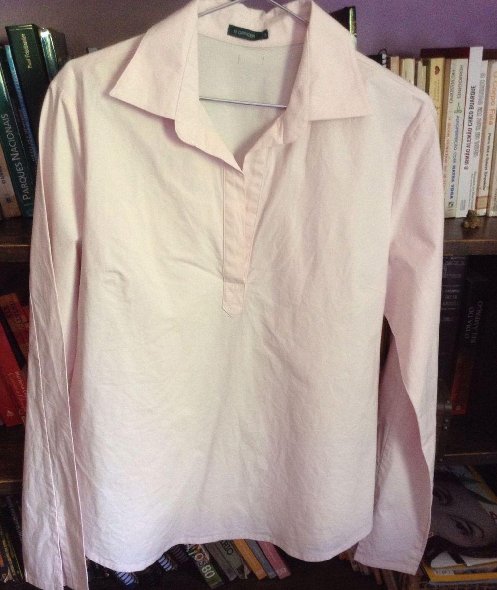 camisa rosa bebê m . offiecr - camisas m.officer