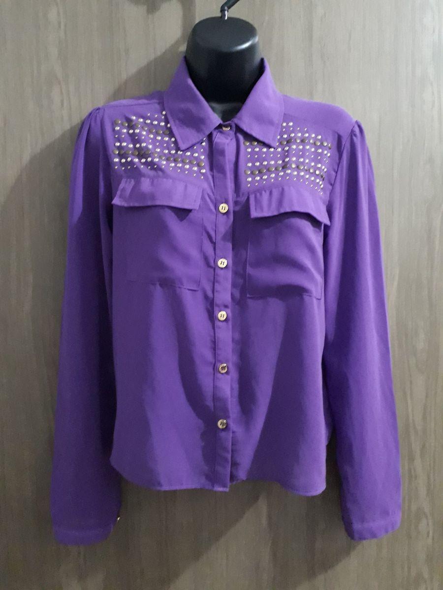 camisa roxa - camisas limelight