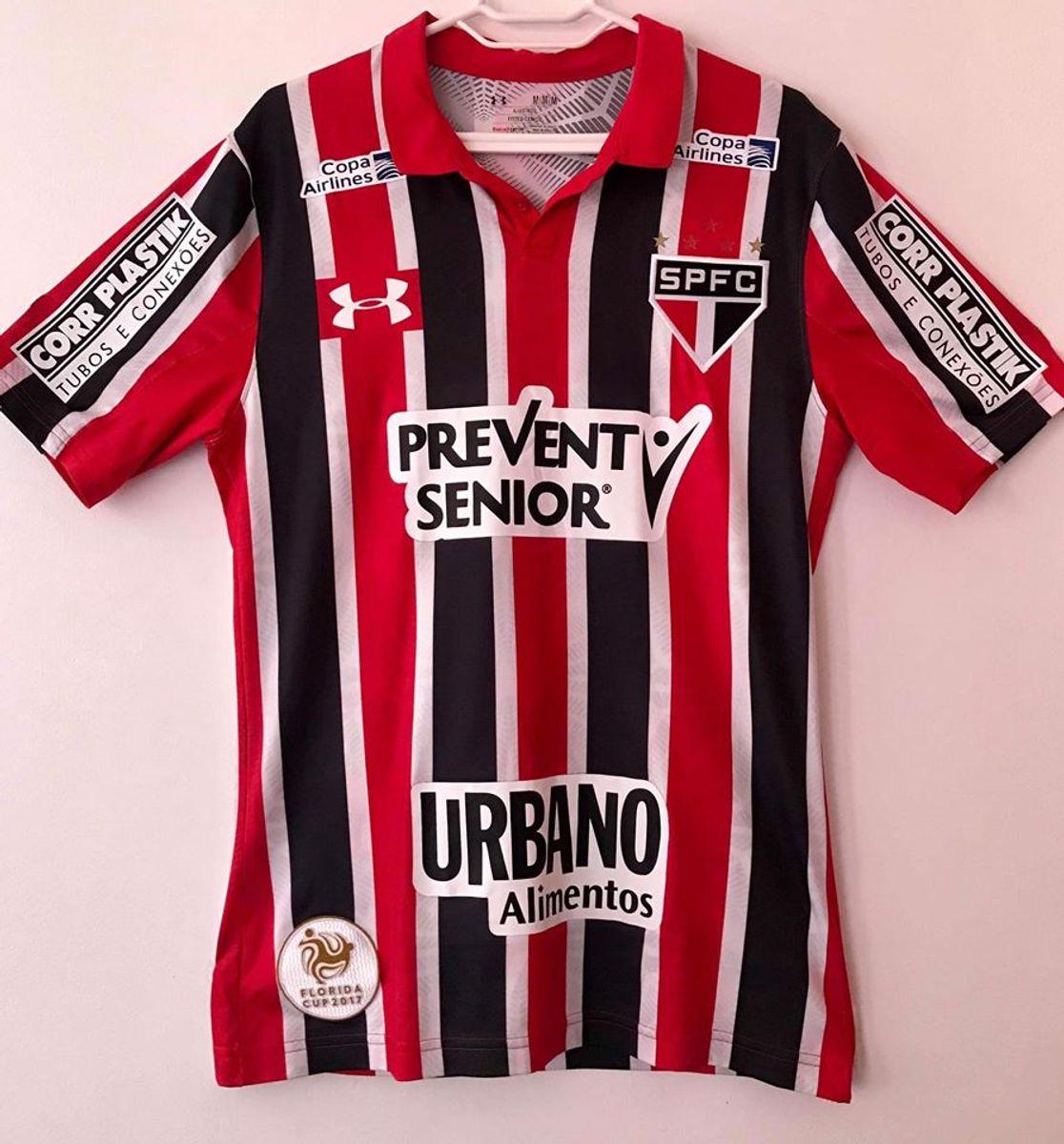 Comunismo Enajenar tarde  Camisa São Paulo 2016/2017 Jogador | Camiseta Masculina Under Armour Usado  45145783 | enjoei