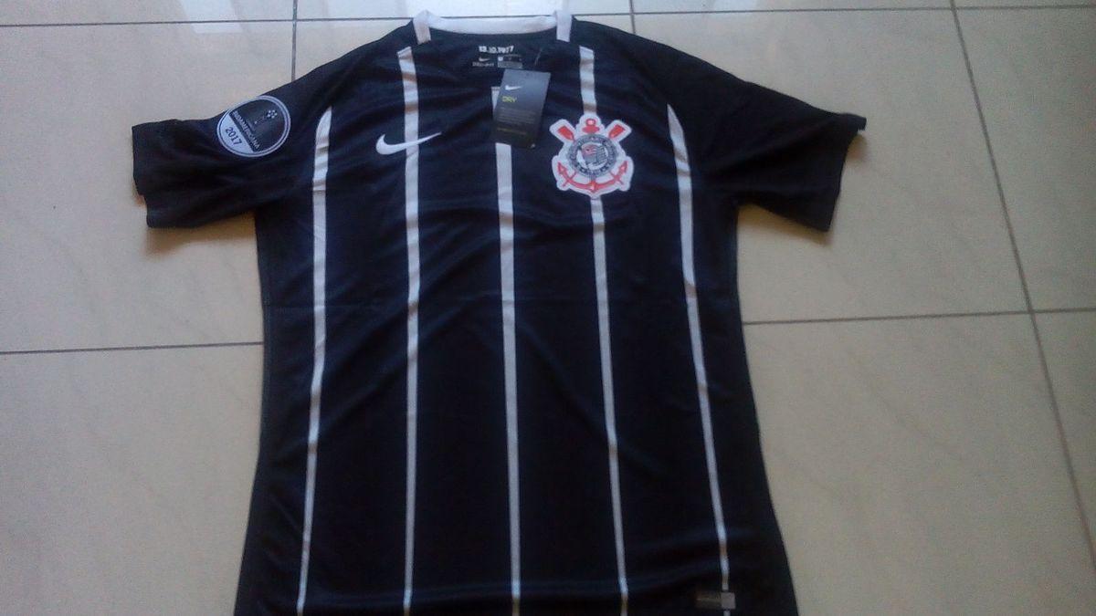 4107d68093031 camisa sc corinthians original 2017 away + patchs grátis - esportes nike
