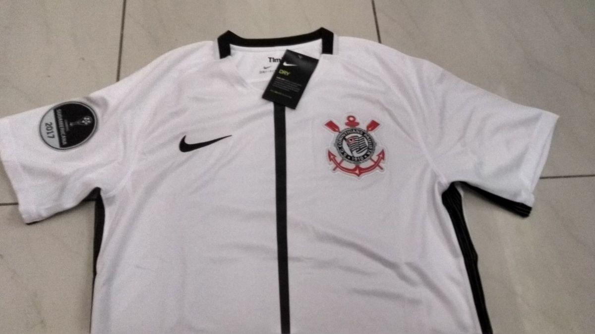 45a7e606dd camisa sc corinthians original 2017 home + patch grátis - esportes nike