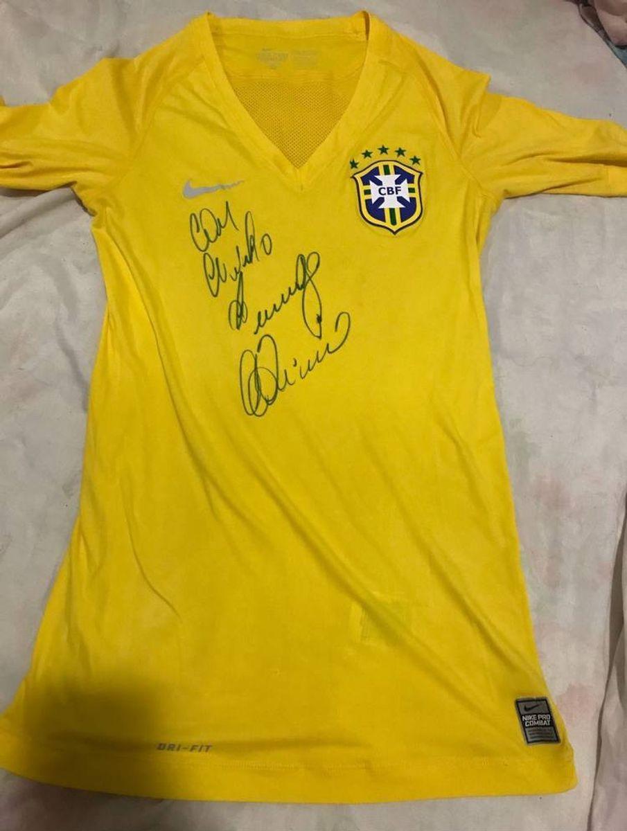 2d8ef5df61 camisa seleção brasileira autógrafada - esportes nike