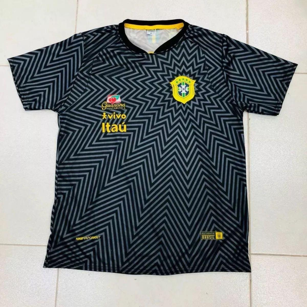 0ef613fac3 camisa seleção brasileira preta de treino copa 2018 - esportes sem marca