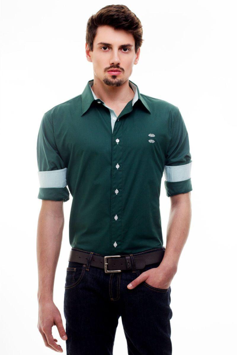 bb322df6e4061 camisa social coritiba verde com branco - camisas hat trick