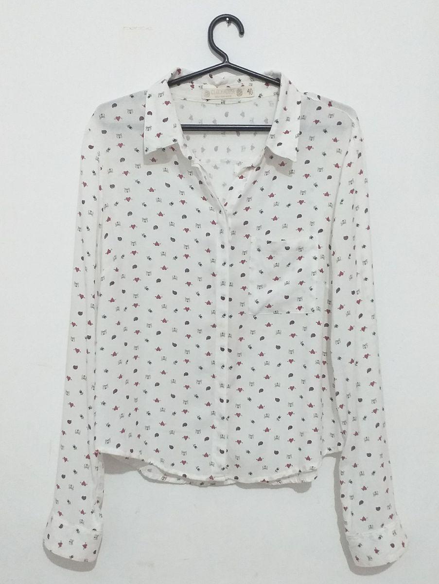 camisa social estampada - camisas clock-house