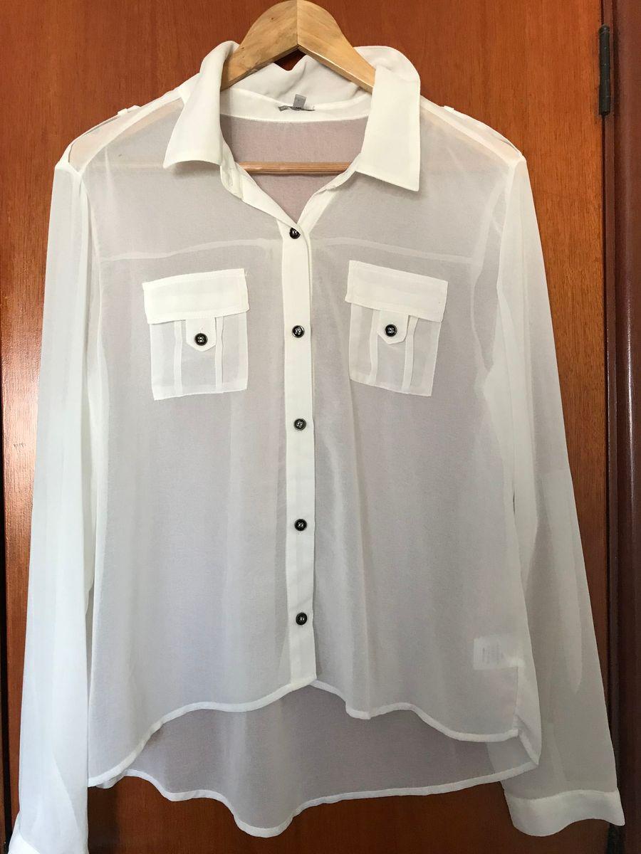 3e82ac7150 camisa social feminina manga longa tam g - camisas charlotte russe