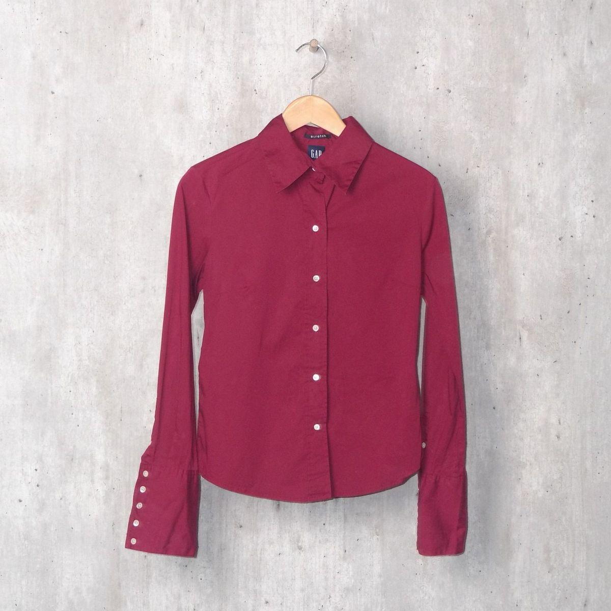 2540d0b7bf Camisa Social Marsala Conforto