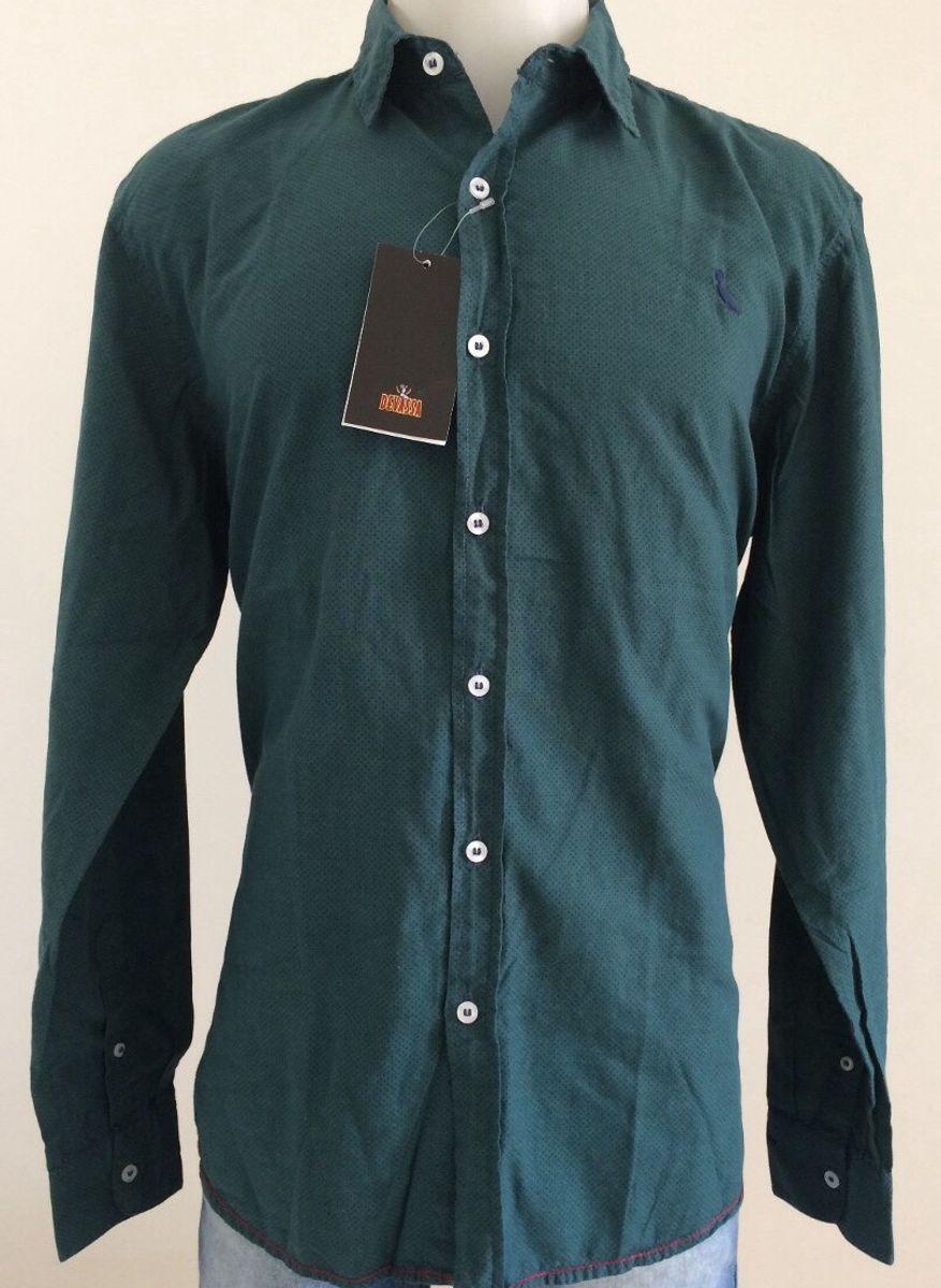 e943c4c746 camisa social masculina reserva original picapau manga longa algodão  bolinha tam m cor verde - camisas