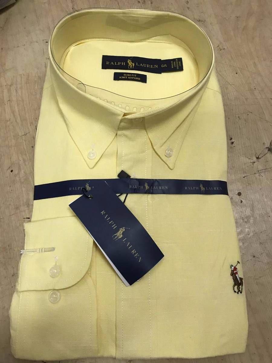 ab55598df8 camisa social ralph lauren amarelo tam.p.m.g.gg - camisas polo ralph lauren