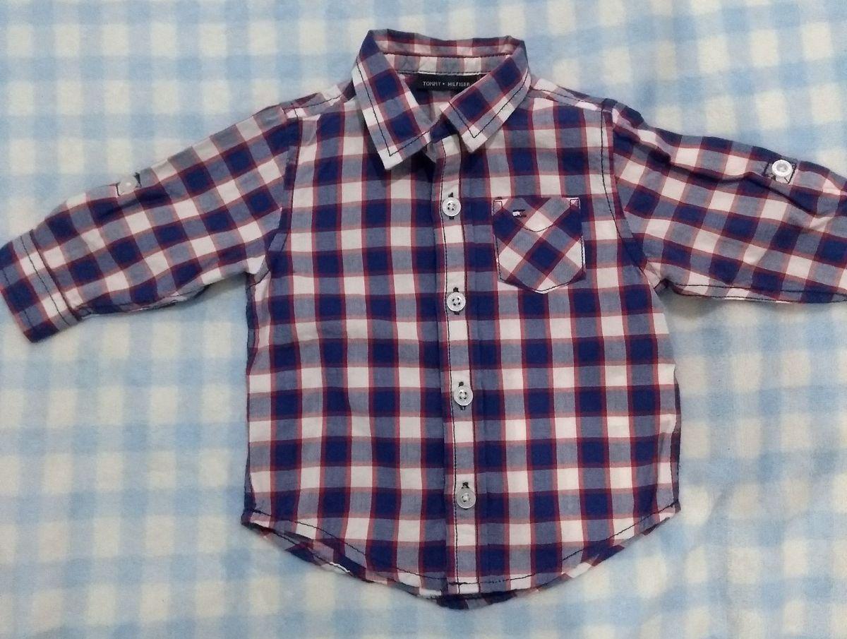 camisa social tommy tamanho 3-6 meses em ótimo estado - bebê tommy hilfiger ed51cf5b11f01