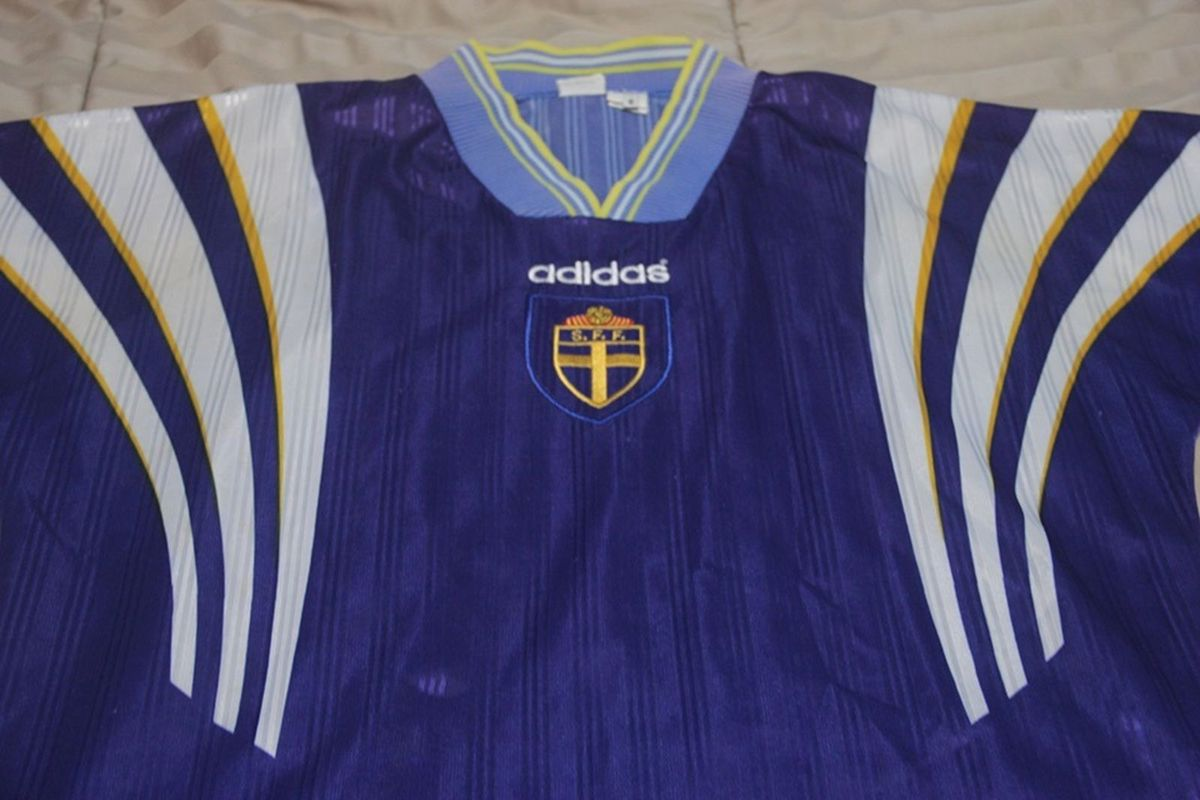 camisa suécia 1996 away adidas tam g - esportes adidas ff0073a58108a