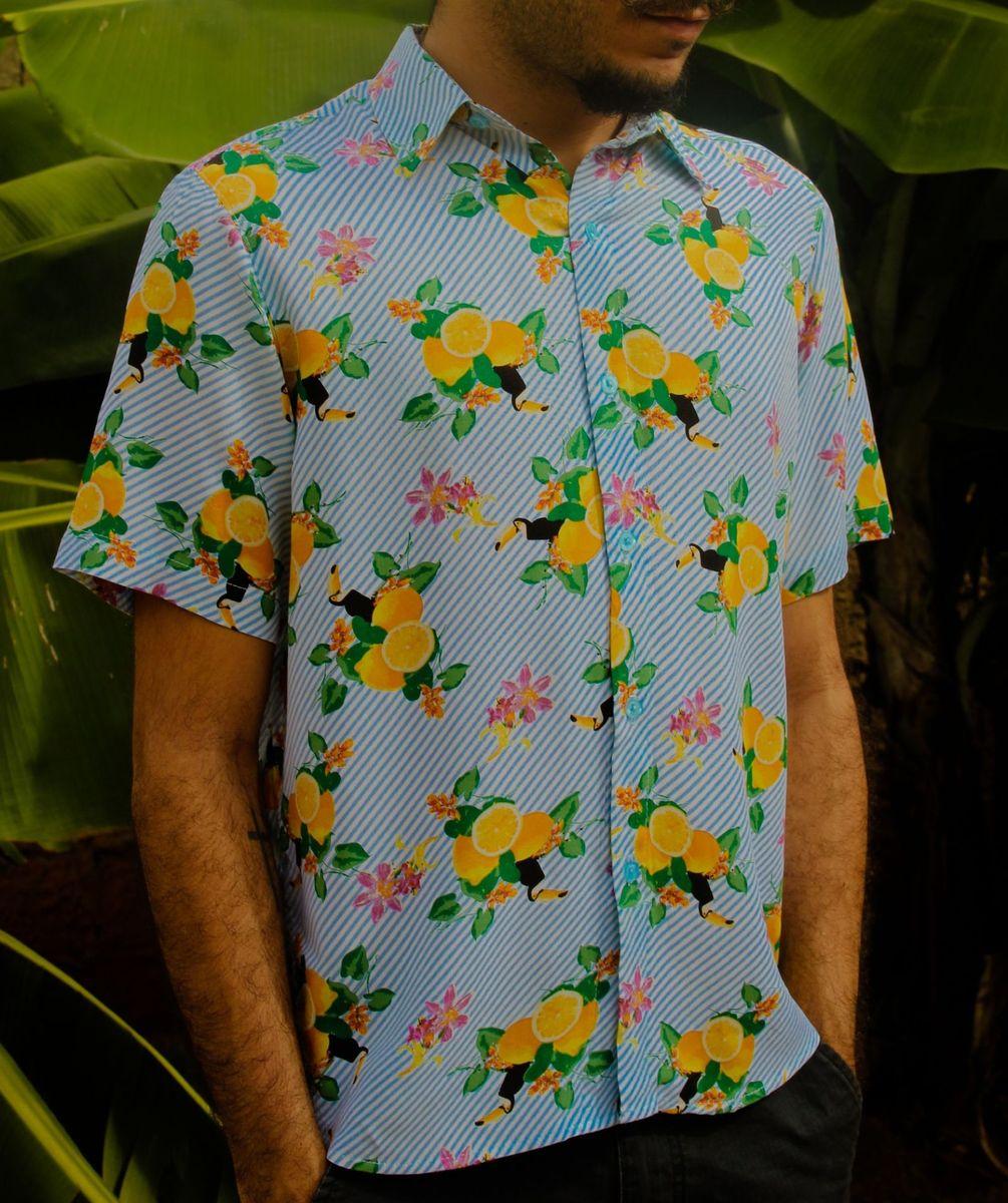 camisa tropical - tamanho p - camisas sem marca
