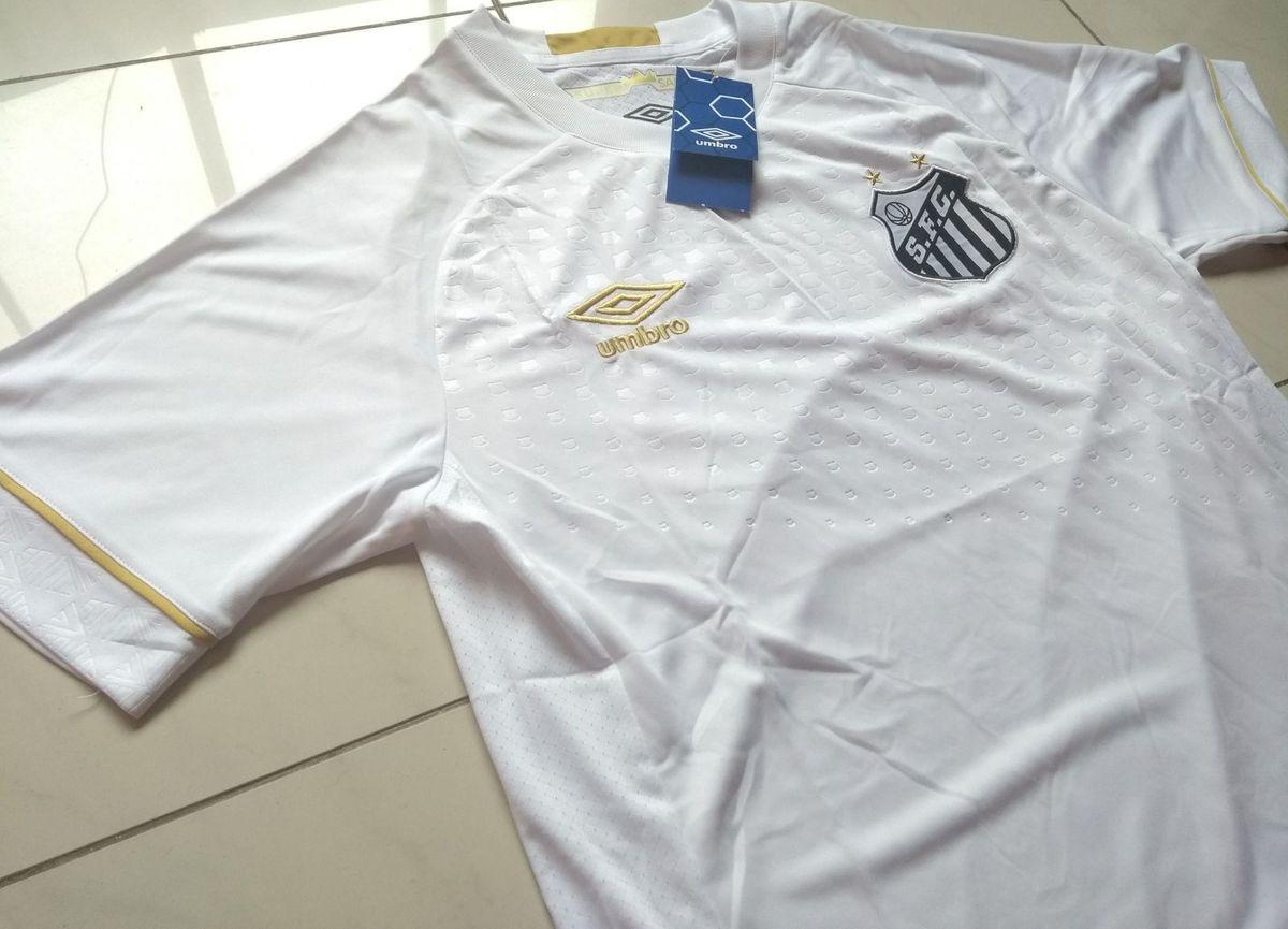 90eddb758b Camisa Umbro Santos Fc Original Modelo 2018 Home + Patchs