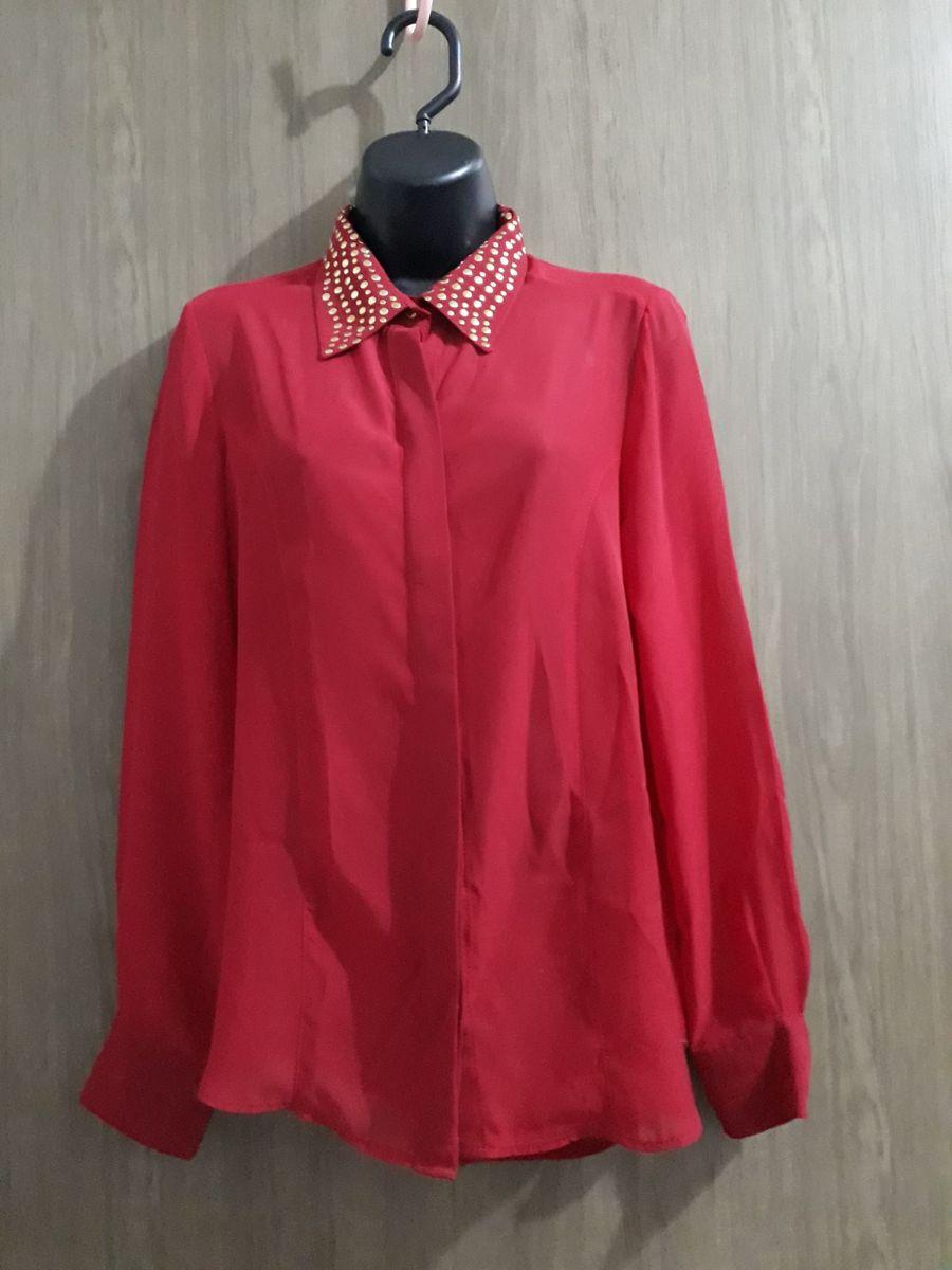 camisa vermelha - camisas puro-sharmy