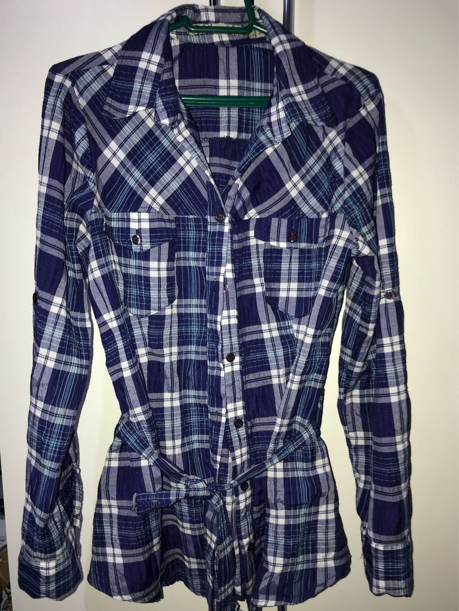 30e53e27d6 camisa xadrez com amarração na cintura - camisas blue steel - lojas renner