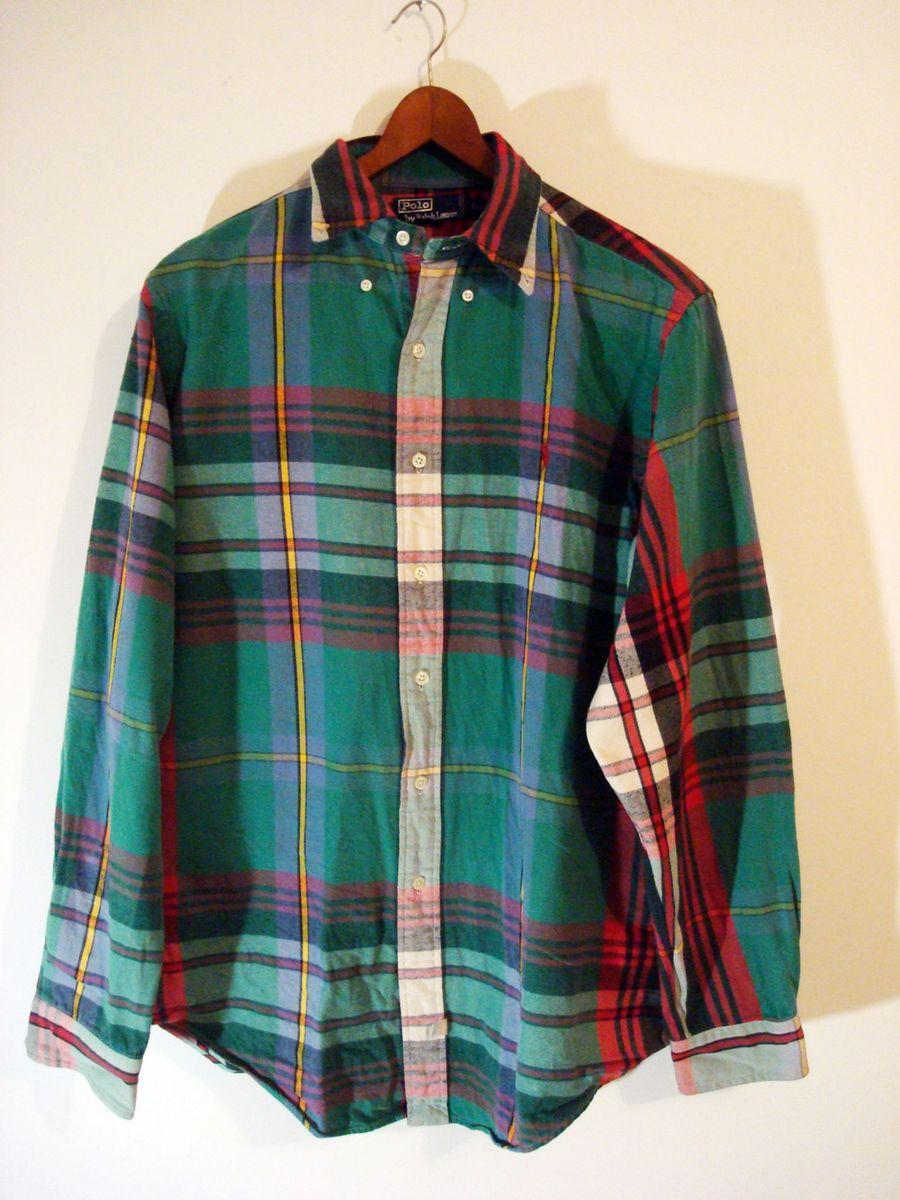 camisa xadrez de flanela. polo ralph lauren tam g. - camisas polo ralph  lauren 865afe94a9b