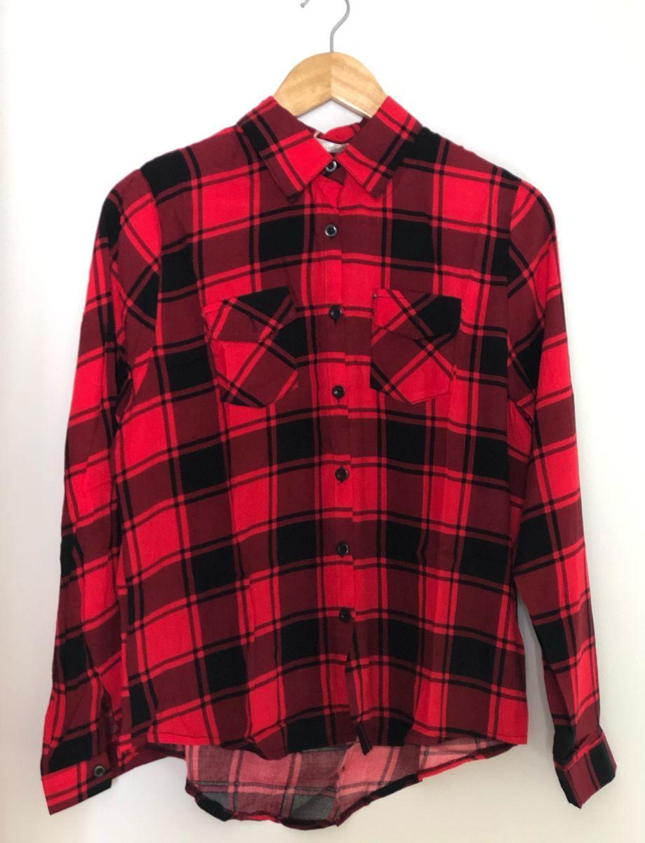 camisa xadrez feminina - camisas sem marca
