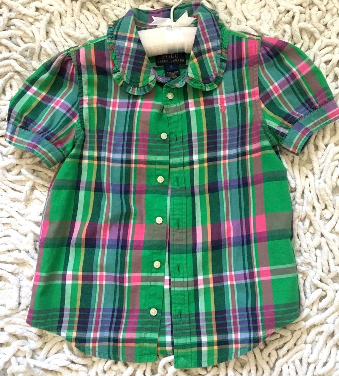 camisa xadrez ralph lauren - menina polo ralph lauren 45685245cc5