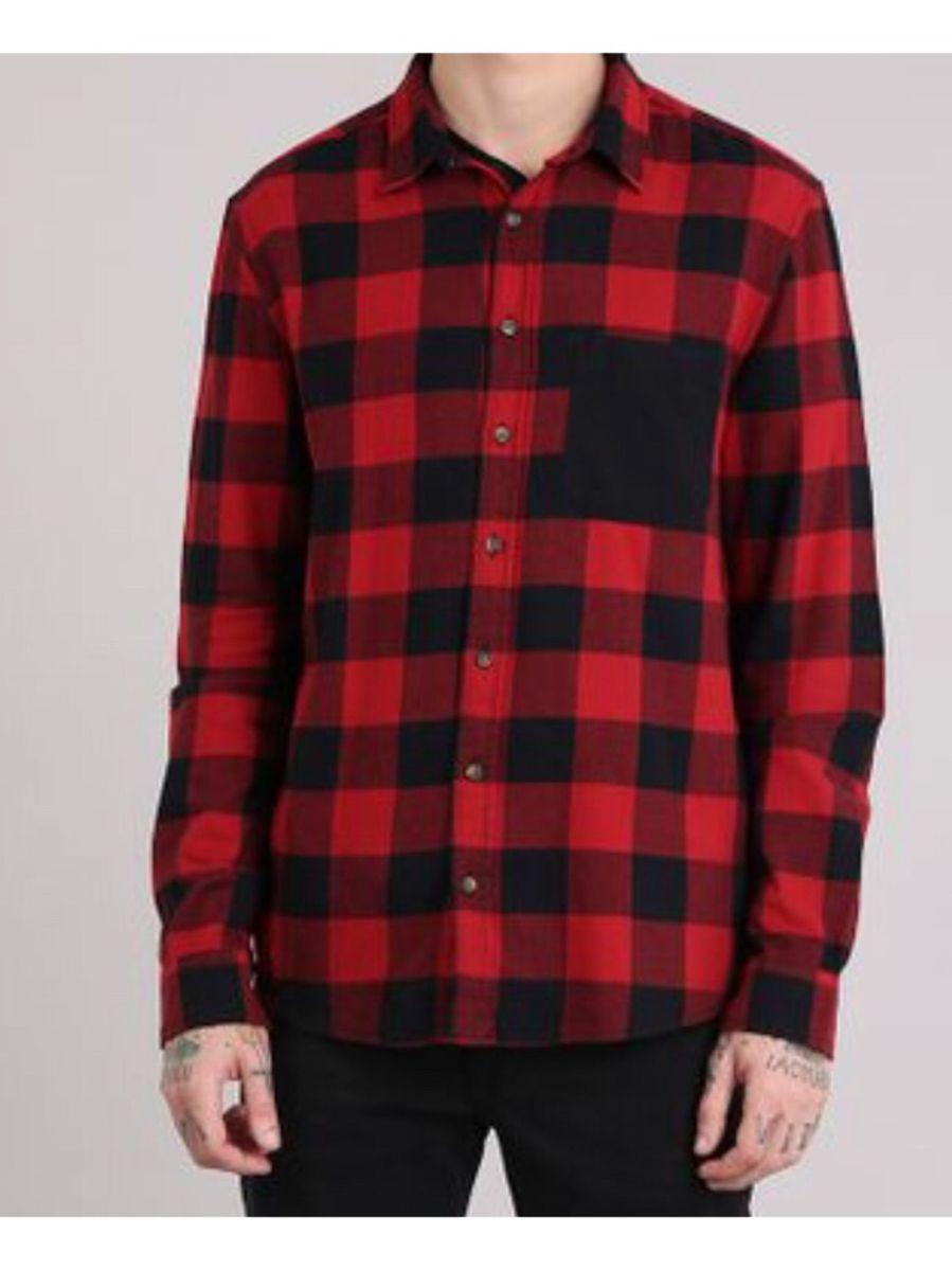 camisa xadrez vermelho e preto - camisas cea.  Czm6ly9wag90b3muzw5qb2vplmnvbs5ici9wcm9kdwn0cy82otu1nti0lzhinte3ywnhmtbimznhogvjyji4mtu1zju3yzriodk1lmpwzw  ... 7291b39ec27