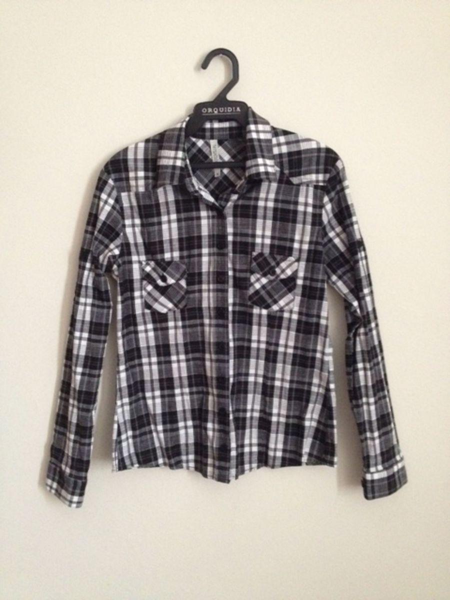 camisa xadrez - blusas audio-visual