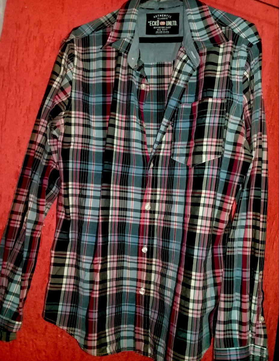camisa xadrez - camisas ecko