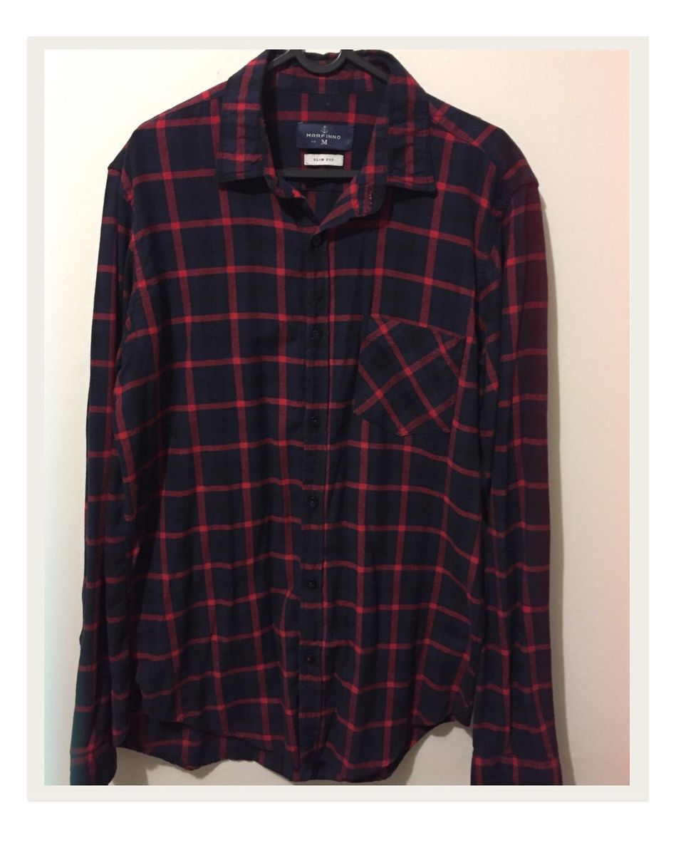camisa xadrez - camisas sem marca
