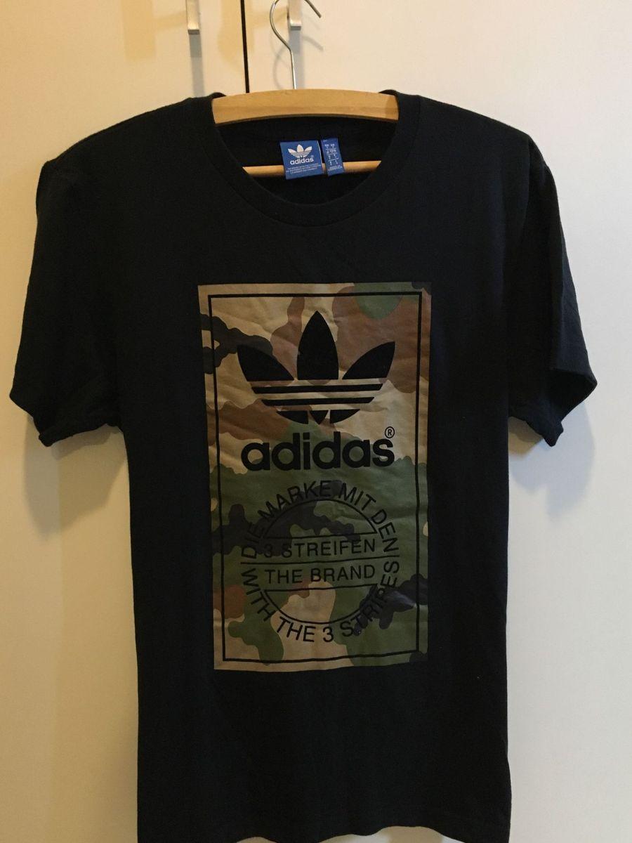 Comprimir intencional Tóxico  Camiseta Adidas Militar/Camuflagem/Exército | Camiseta Masculina Adidas  Usado 20342696 | enjoei