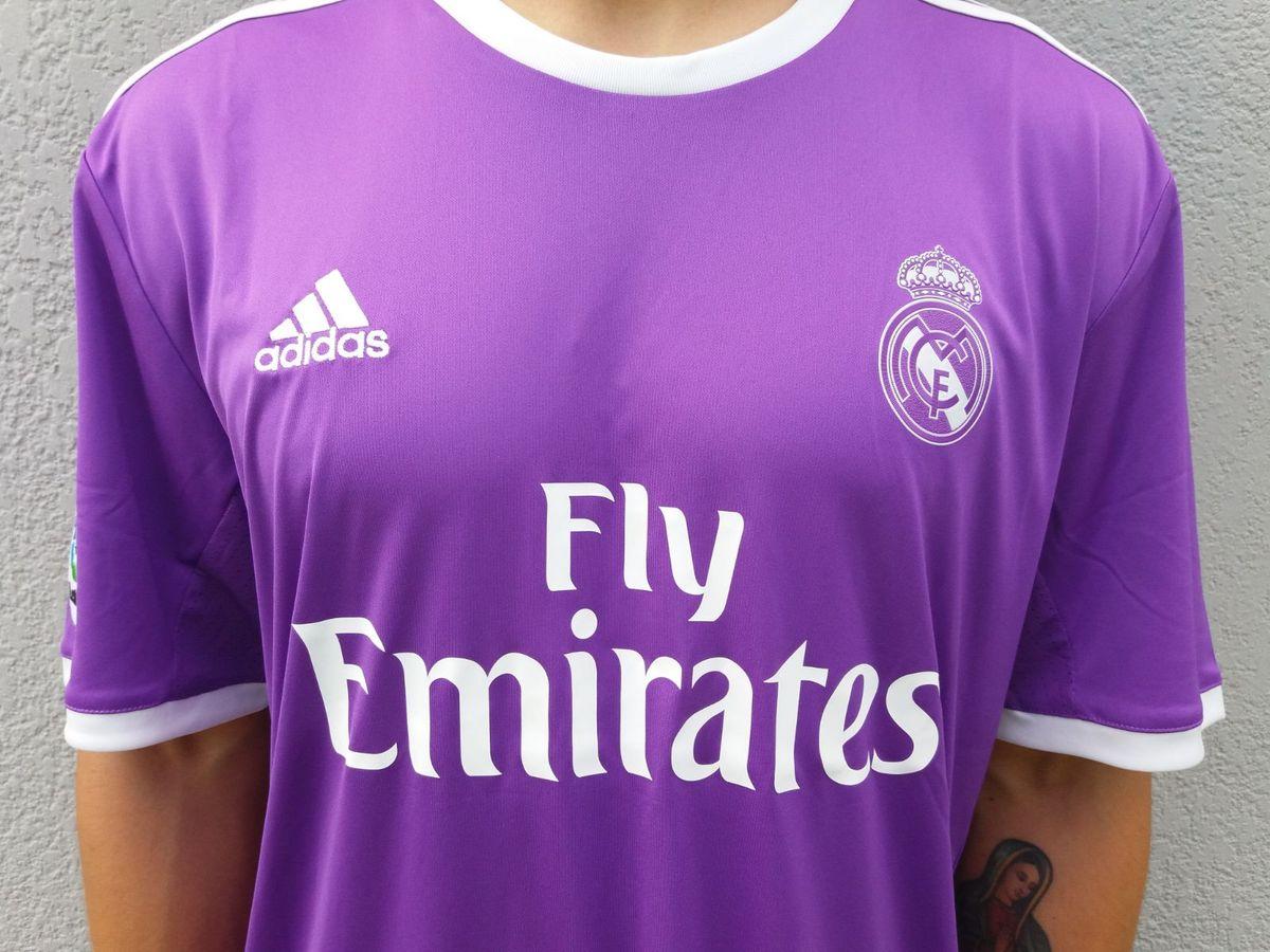 Prohibir cocodrilo Mansión  Camiseta Adidas Real Madrid Away Roxo Cristiano Ronaldo Climacool Original  | Camisa Masculina Adidas Nunca Usado 37765852 | enjoei