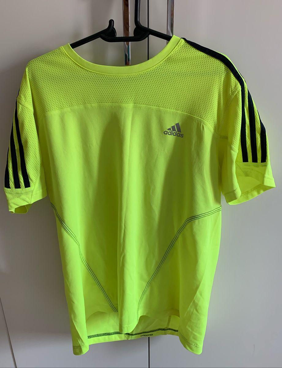 puesto condón su  Camiseta Adidas Running Amarelo Fluorescente G | Camiseta Masculina Adidas  Usado 40965587 | enjoei