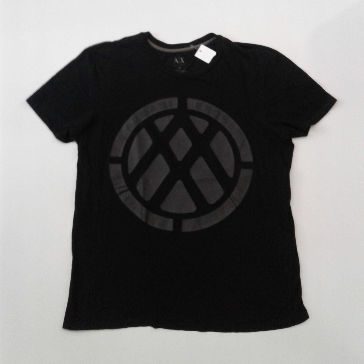 5b2dbe5e90c Camiseta Ax Preta