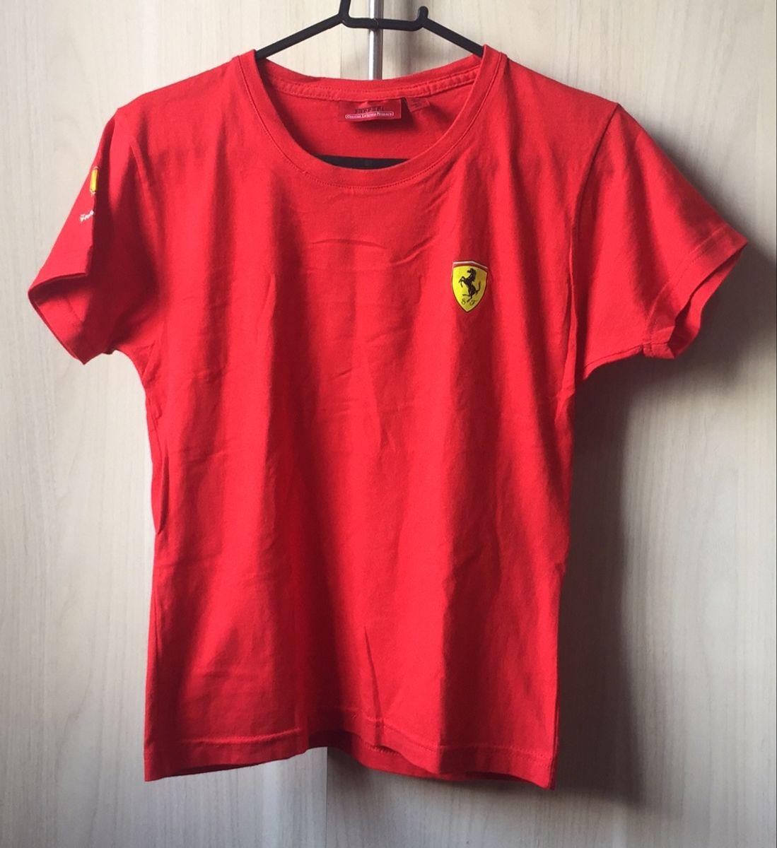 Camiseta Baby Look Ferrari Vermelha Algodao Camiseta Feminina Ferrari Usado 38853234 Enjoei