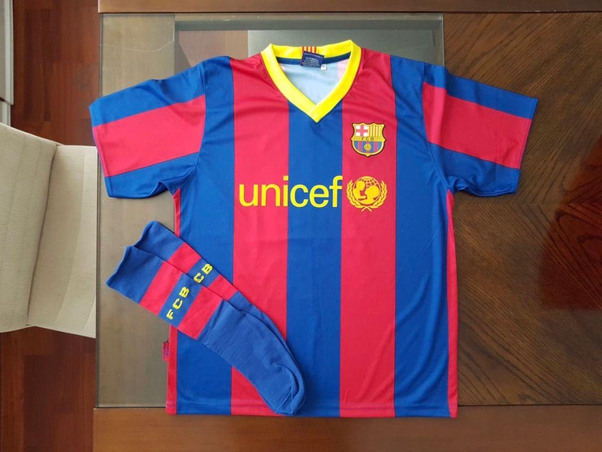camiseta barcelona messi oficial infantil m - menino barcelona e567ea78ee8