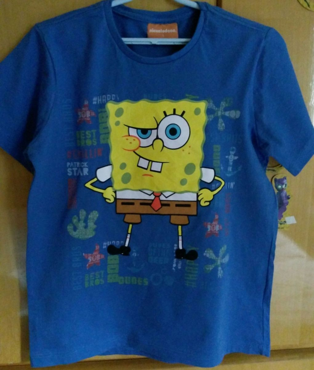 Todo el tiempo Año nuevo Humilde  Camiseta Bob Esponja | Roupa Infantil para Menino Camiseta-Bob-Esponja  Nunca Usado 25280904 | enjoei