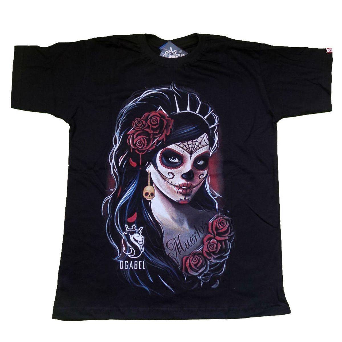 0d3501979 Camiseta Camisa Feminina Caveira Mexicana Dia Dos Mortos Promoção ...