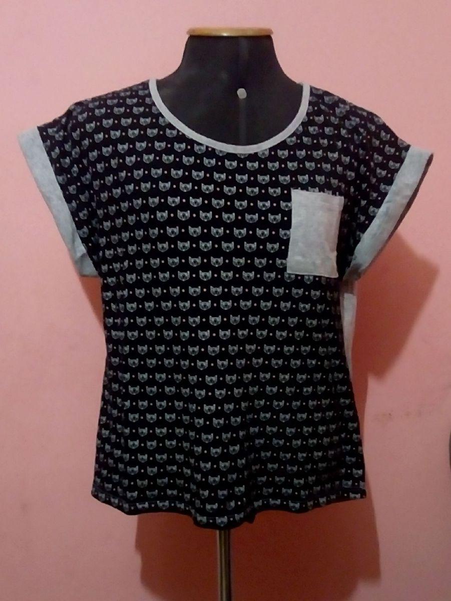 camiseta com estampa de gatinho - camisetas marisa