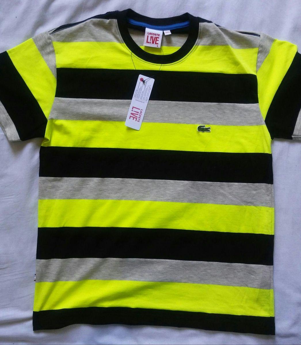 Camiseta Da Lacoste Listradas Original Camiseta Masculina Lacoste