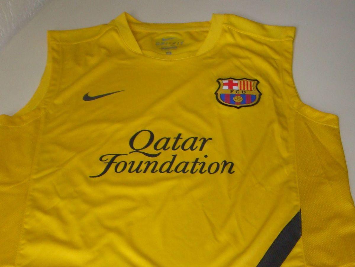 camiseta de treino barcelona amarela - esportes nike ecf9e33197157