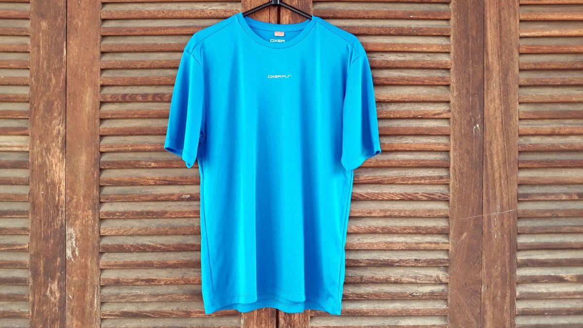 5a6cd72fc8 camiseta dry fit oxer run azul tam p - camisetas oxer