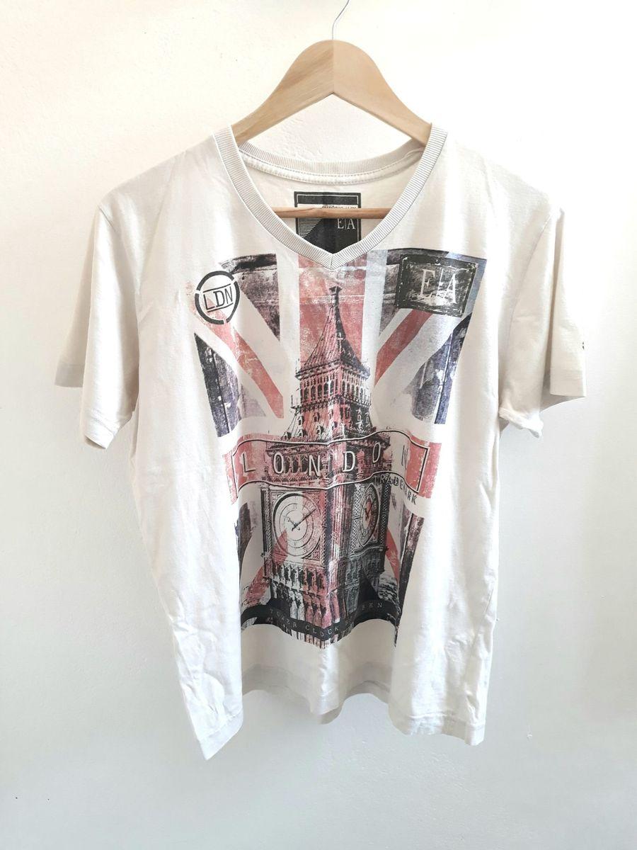 e4feabe6a Camiseta Estampa Frontal | Camiseta Masculina Emporio Alex Usado ...