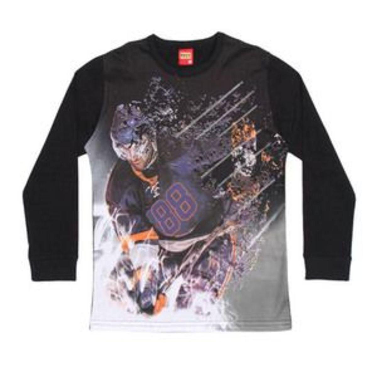camiseta estampada. preta  amp  laranja. kyly - 16 - menino camiseta  estampada. 9c68510bc04e8