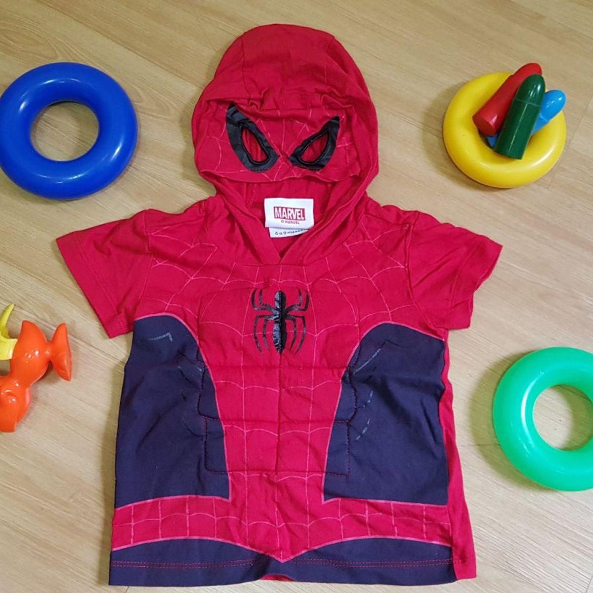abcc1d5c6 Camiseta Fantasia Spider Man