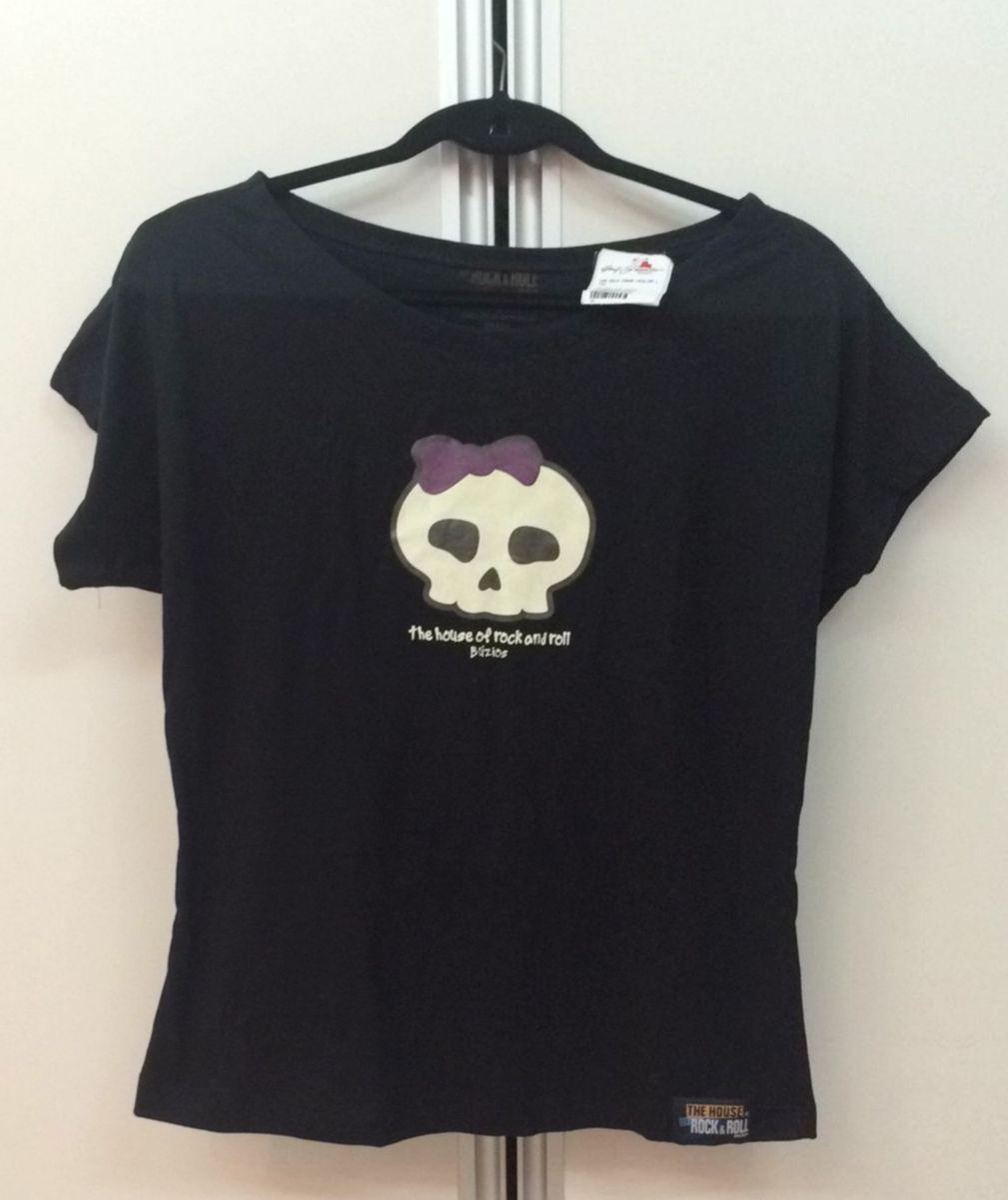 70bd7a5eef camiseta gola canoa caveirinha de lacinho - blusas house-of-rock-e-